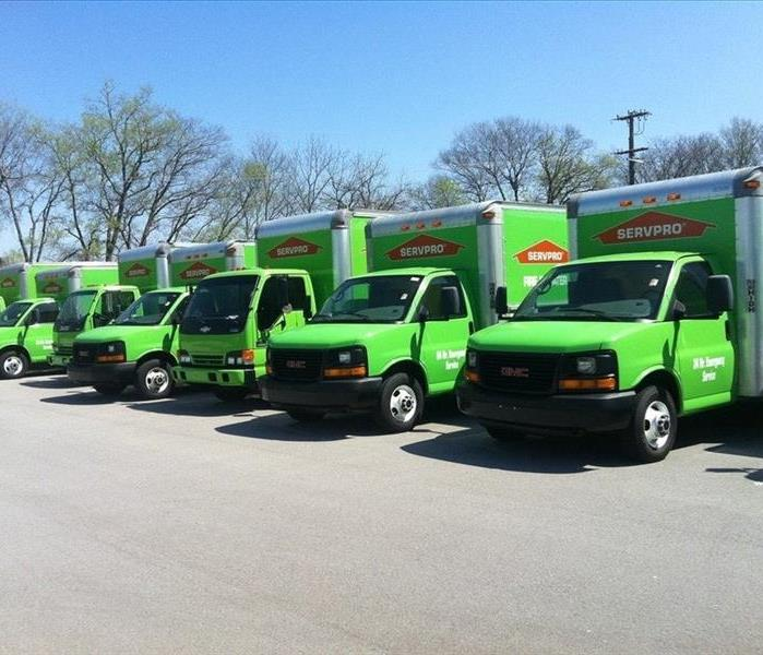 SERVPRO Green Service Trucks Ready to Deploy